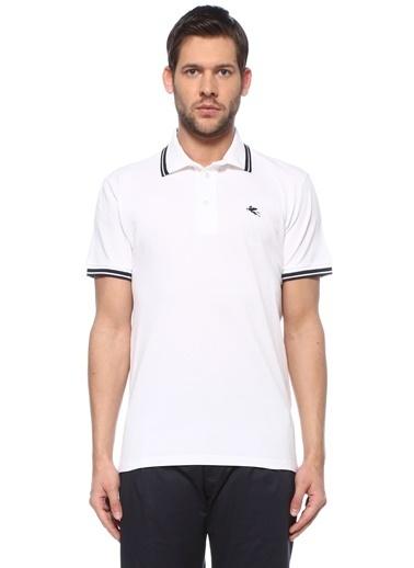 Etro Etro  Polo Yaka Logo Nakışlı T-shirt 101618072 Beyaz